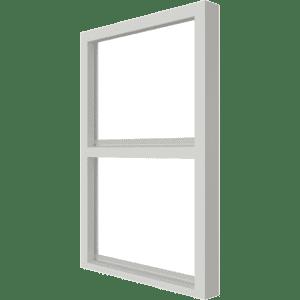 Vast glas | 2 vakken verticaal | hout