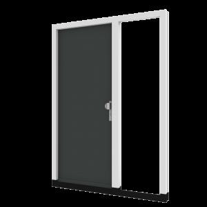 Voordeur TH01 met zijlicht rechts (binnendraaiend) | hout