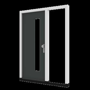 Voordeur TH02 met zijlicht rechts (binnendraaiend) | hout