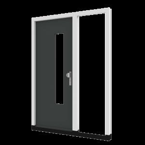 Voordeur TH03 met zijlicht rechts (binnendraaiend) | hout