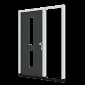 Voordeur TH04 met zijlicht rechts (binnendraaiend) | hout