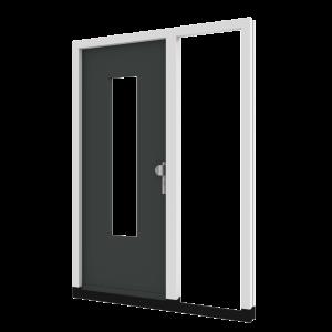 Voordeur TH06 met zijlicht rechts (binnendraaiend) | hout