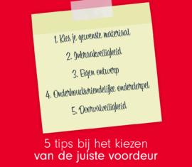 5 tips voor het kiezen van een voordeur
