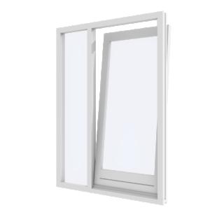 Draai-kiepdeur met zijlicht links – binnendraaiend | hout