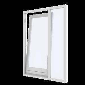 Draai-kiepdeur met zijlicht rechts – binnendraaiend | hout