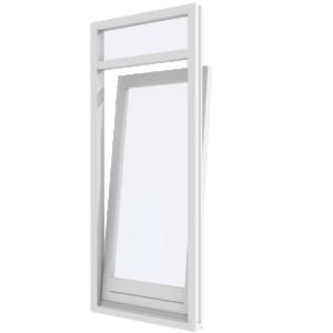 Draai-kiepdeur met bovenlicht- binnendraaiend | hout