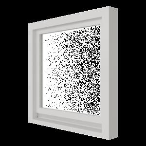 Vast raam (binnenzijde) | 1 vak | hout