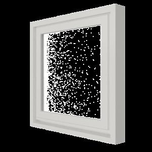 Vast raam (buitenzijde) | 1 vak | hout