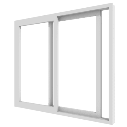 houten 2-delige schuifpui transparant-vierkant