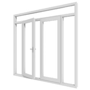 Tuindeuren (stolp) met bovenlicht en twee zijlichten – buitendraaiend | kunststof