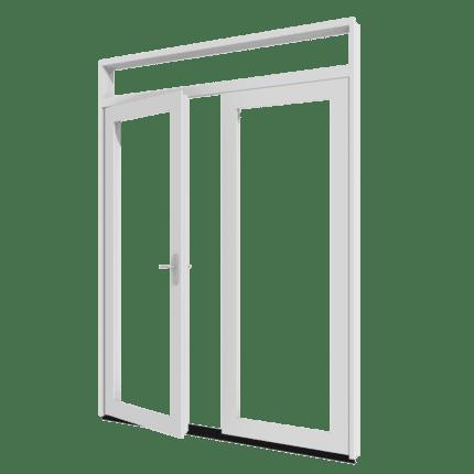 Dubbele terrasdeur bovenlicht_transparant