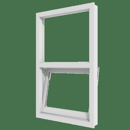 Draai-kiepraam (onder) en vast glas verticaal 2 vakken_transparant