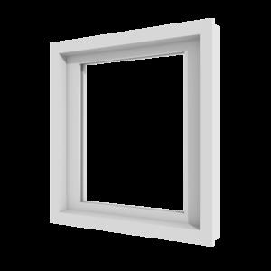 Vast raam (binnenzijde) | 1 vak | kunststof