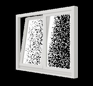 Draai-kiepraam (stolp) – binnendraaiend | 2 vakken | hout