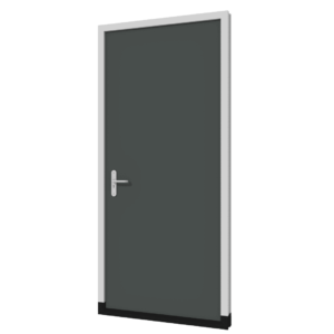 Dichte achterdeur (buitendraaiend) | hout