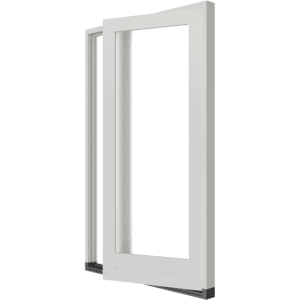 Stapeldorpeldeur met zijlicht links – buitendraaiend | hout