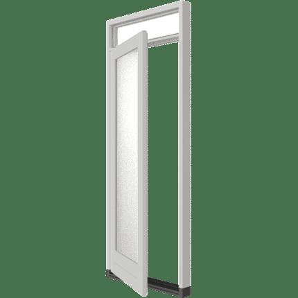 houten achterdeur enkele stapeldorpeldeur met bovenlicht