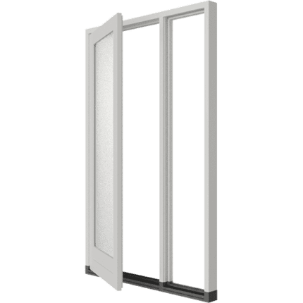 Enkele deur 2-vaks zijlicht-rechts