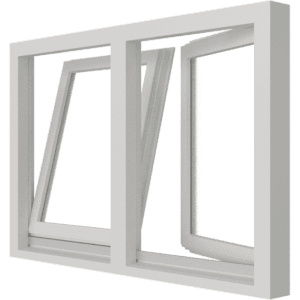 Draai-kiepraam | 2 vakken | hout