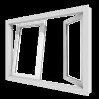 houten draaikiepraam en draairaam 2 vakken stolpramen